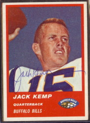 Autographed 1963 Fleer Jack Kemp