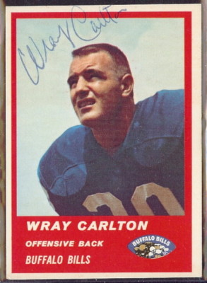 Autographed 1963 Fleer Wray Carlton
