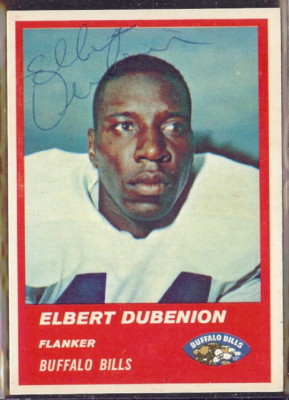 Autographed 1963 Fleer Elbert Dubenion