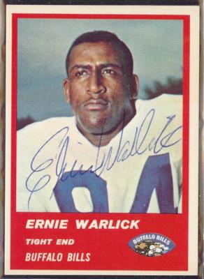 Autographed 1963 Fleer Ernie Warlick