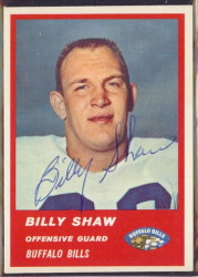 Autographed 1963 Fleer Billy Shaw
