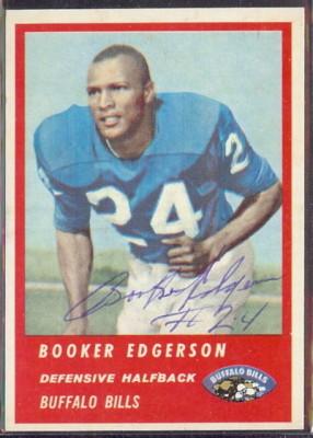 Autographed 1963 Fleer Booker Edgerson