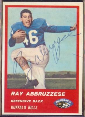 Autographed 1963 Fleer Ray Abbruzzese