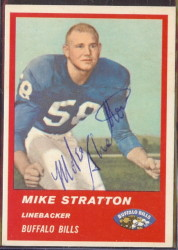 Autographed 1963 Fleer Mike Stratton