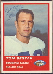 Autographed 1963 Fleer Tom Sestak