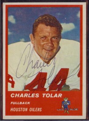 Autographed 1963 Fleer Charles Tolar