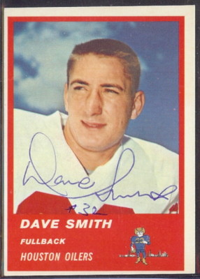 Autographed 1963 Fleer Dave Smith