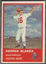 Autographed 1963 Fleer George Blanda