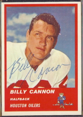 Autographed 1963 Fleer Billy Cannon