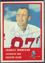 Autographed 1963 Fleer Charles Hennigan