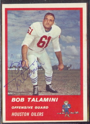 Autographed 1963 Fleer Bob Talamini