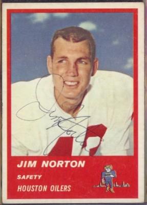 Autographed 1963 Fleer Jim Norton