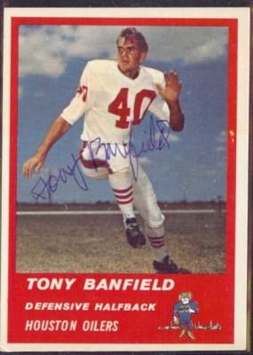 Autographed 1963 Fleer Tony Banfield