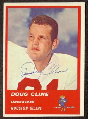 Autographed 1963 Fleer Doug Cline