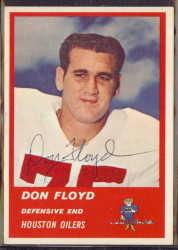Autographed 1963 Fleer Don Floyd