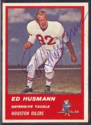 Autographed 1963 Fleer Ed Husmann