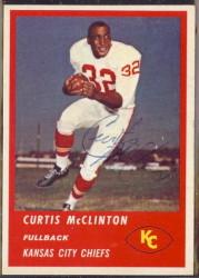 Autographed 1963 Fleer Curtis McClinton