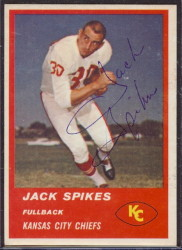 Autographed 1963 Fleer Jack Spikes