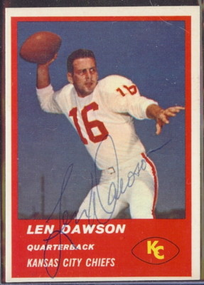 Autographed 1963 Fleer Len Dawson
