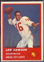1963 Fleer - 47 - Len Dawson