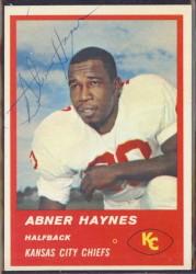 Autographed 1963 Fleer Abner Haynes
