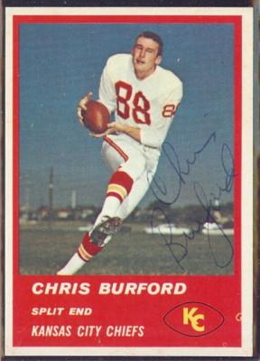 Autographed 1963 Fleer Chris Burford