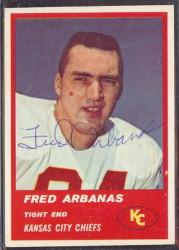 Autographed 1963 Fleer Fred Arbanas