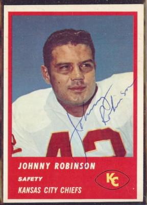 Autographed 1963 Fleer Johnny Robinson