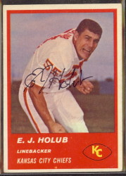 Autographed 1963 Fleer E.J. Holub