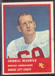 Autographed 1963 Fleer Sherrill Headrick