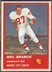 Autographed 1963 Fleer Mel Branch