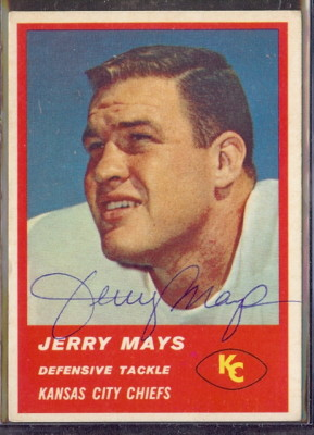 Autographed 1963 Fleer Jerry Mays
