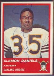 Autographed 1963 Fleer Clem Daniels