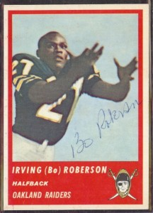 Autographed 1963 Fleer Irving (Bo) Roberson