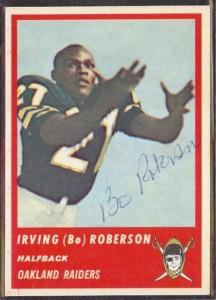 Autographed 1963 Fleer Irving (Bo) Roberson