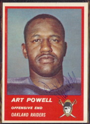 Autographed 1963 Fleer Art Powell