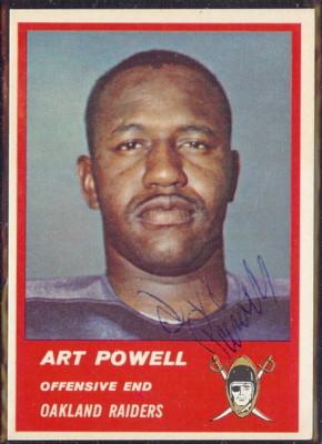 Autographed 1963 Fleer Art Powell