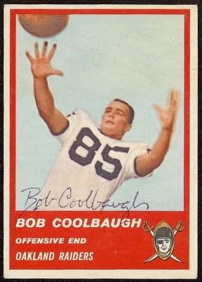 Autographed 1963 Fleer Bob Coolbaugh