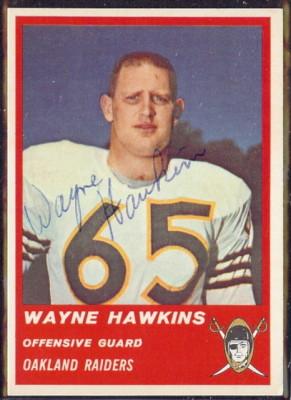 Autographed 1963 Fleer Wayne Hawkins