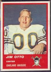 Autographed 1963 Fleer Jim Otto