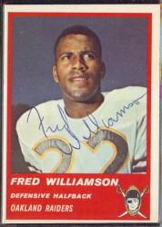 Autographed 1963 Fleer Fred Williamson