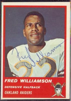 Autographed 1963 Fleer Fred Williamson