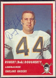 Autographed 1963 Fleer Robert (Bob) Dougherty