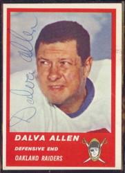 Autographed 1963 Fleer Dalva Allen