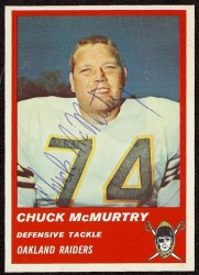 Autographed 1963 Fleer Chuck McMurtry