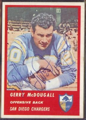 Autographed 1963 Fleer Gerry McDougall