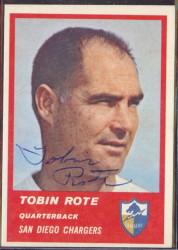 Autographed 1963 Fleer Tobin Rote