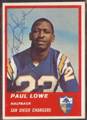 Autographed 1963 Fleer Paul Lowe