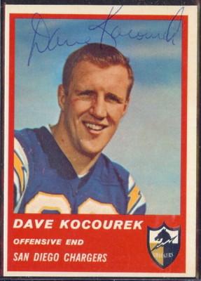 Autographed 1963 Fleer Dave Kocourek