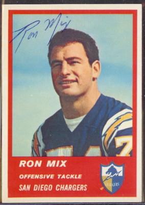 Autographed 1963 Fleer Ron Mix